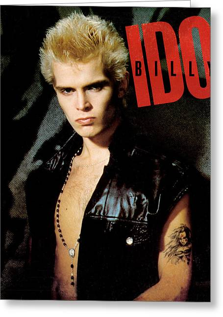 In The City Greeting Cards - Billy Idol - Billy Idol 1982 Greeting Card by Epic Rights