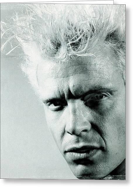 Face Of A Woman Greeting Cards - Billy Idol - Charmed Life Inner Sleeve 1990 Greeting Card by Epic Rights