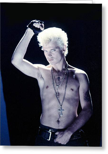 British Invasion Greeting Cards - Billy Idol - Close Up & Personal Greeting Card by Epic Rights