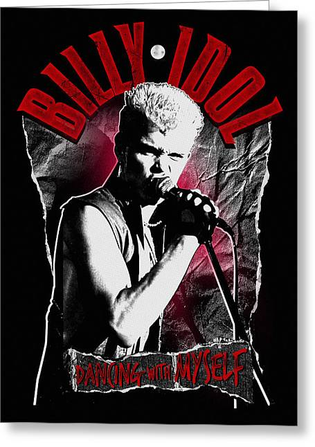 80s Greeting Cards - Billy Idol - Dancing with Myself Greeting Card by Epic Rights