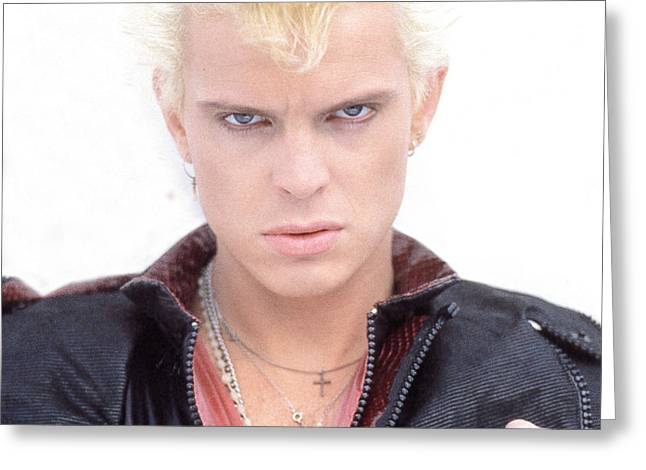 80s Greeting Cards - Billy Idol - Early Years Greeting Card by Epic Rights