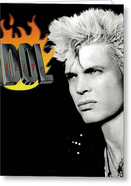 Billy Idol - Greatest Hits 2001 Greeting Card by Epic Rights