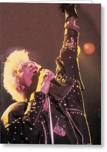 Billy Idol - Greatest Hits Inner Sleeve 2001 - Rebel Yell Greeting Card by Epic Rights