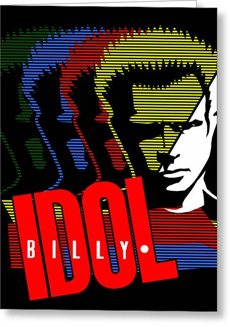 80s Greeting Cards - Billy Idol - Idol Greeting Card by Epic Rights