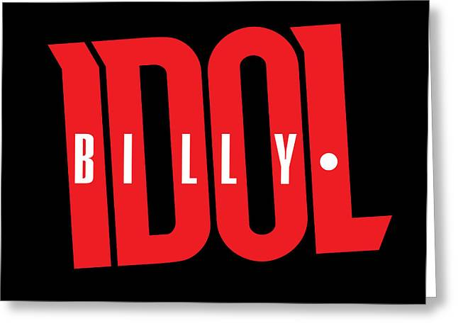 British Invasion Greeting Cards - Billy Idol - Logo Greeting Card by Epic Rights