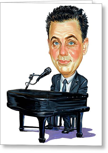 Famous Person Paintings Greeting Cards - Billy Joel Greeting Card by Art