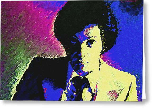 Icons Prints On Canvas Greeting Cards - Billy Joel Greeting Card by John Travisano