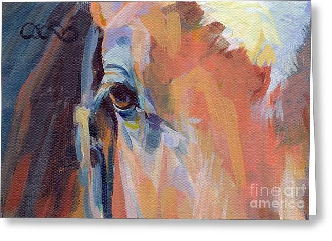 Race Horse Greeting Cards - Billy Greeting Card by Kimberly Santini