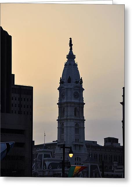William Penn Digital Art Greeting Cards - Billy Penn at Sunrise Greeting Card by Bill Cannon