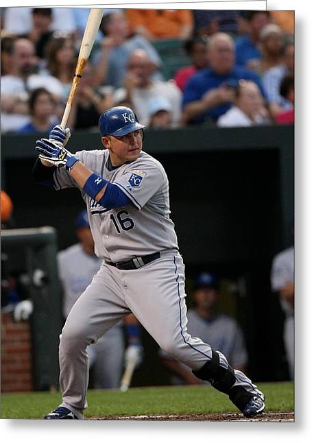 Kansas City Royals Greeting Cards - Billy Ray Butler Greeting Card by Nomad Art And  Design