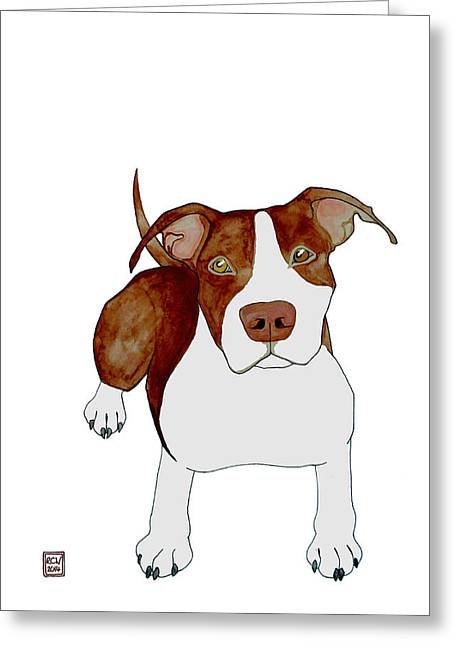 Terrier Dog Drawings Greeting Cards - Billy Greeting Card by Richard Williamson