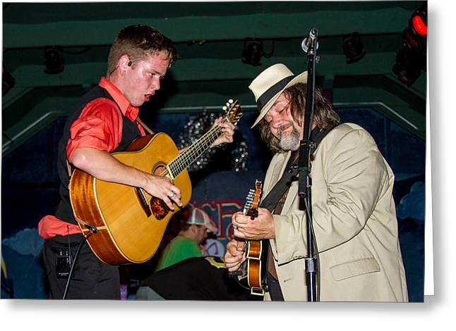 Blissfest Greeting Cards - Billy Strings  and Don Julan Greeting Card by Bill Gallagher