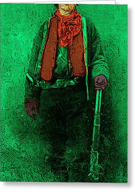 Billy The Kid Greeting Cards - Billy The Kid 20130211v1 long Greeting Card by Wingsdomain Art and Photography