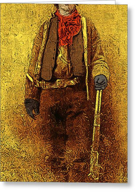 Billy The Kid Greeting Cards - Billy The Kid 20130211v2 long Greeting Card by Wingsdomain Art and Photography