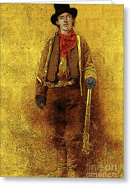 Billy The Kid Greeting Cards - Billy The Kid 20130211v2 Greeting Card by Wingsdomain Art and Photography