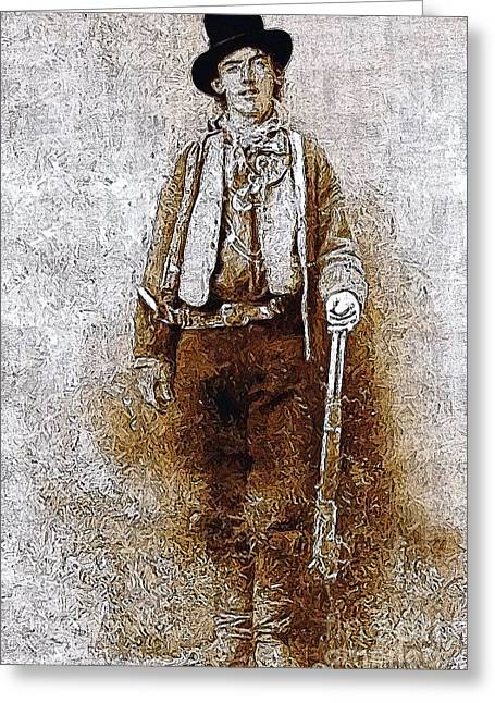 Billy The Kid Greeting Cards - Billy The Kid 20130211v3 Greeting Card by Wingsdomain Art and Photography