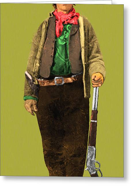 Billy The Kid Greeting Cards - Billy The Kid 20130518 long Greeting Card by Wingsdomain Art and Photography