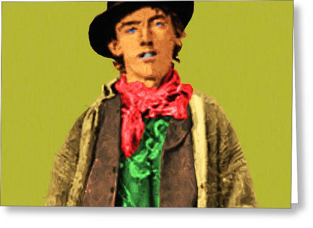 Billy The Kid Greeting Cards - Billy The Kid 20130518 square Greeting Card by Wingsdomain Art and Photography