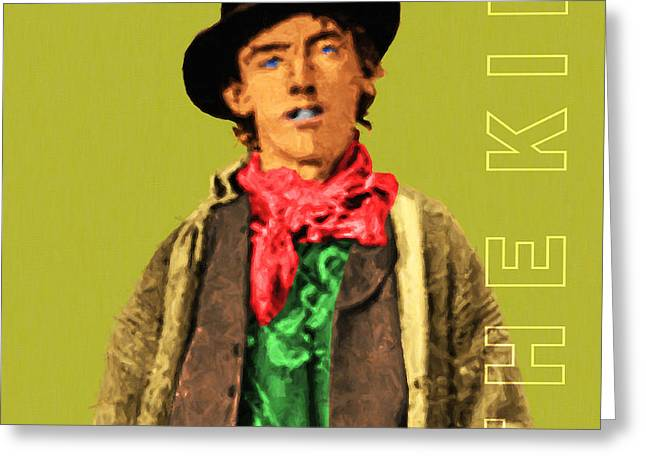 Billy The Kid Greeting Cards - Billy The Kid 20130518 square with text Greeting Card by Wingsdomain Art and Photography