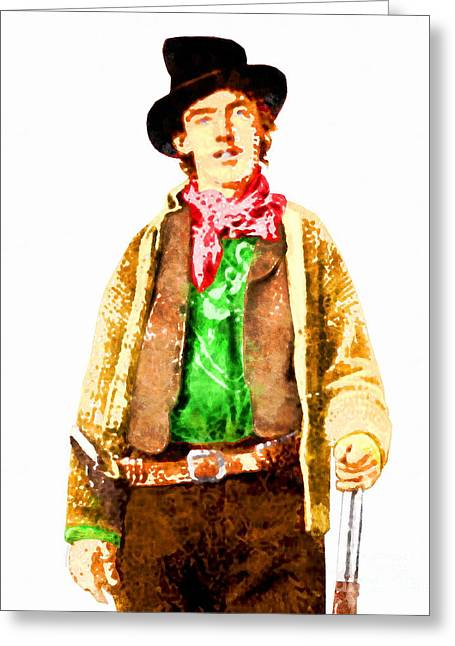 Billy The Kid Greeting Cards - Billy The Kid 20130518wc v2 Greeting Card by Wingsdomain Art and Photography