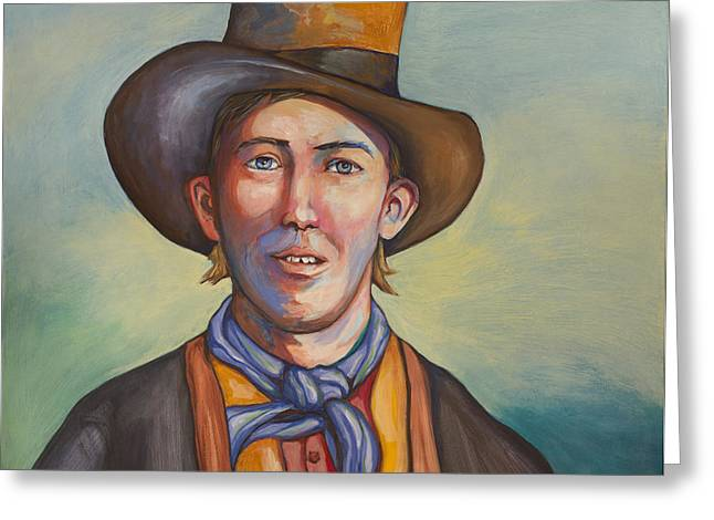 Gunman Greeting Cards - Billy The Kid Greeting Card by Robert Lacy
