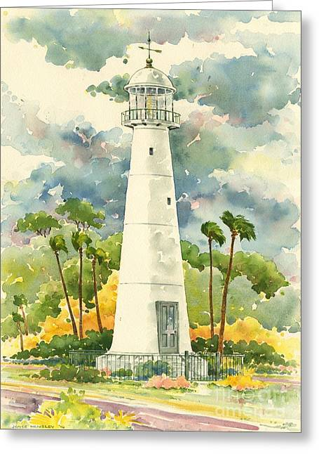 Biloxi Greeting Cards - Biloxi Lighthouse Greeting Card by Joyce Hensley
