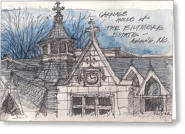 Biltmore Carriage House Greeting Card by Tim Oliver