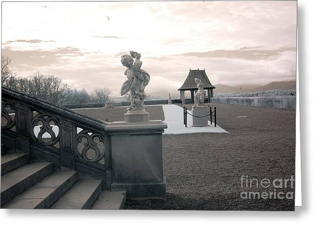 The Houses Photographs Greeting Cards - Biltmore House Italian Garden Sculpture Architecture Greeting Card by Kathy Fornal
