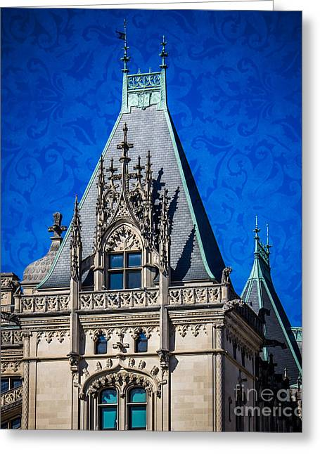 French Renaissance Greeting Cards - Biltmore Skies Greeting Card by Perry Webster