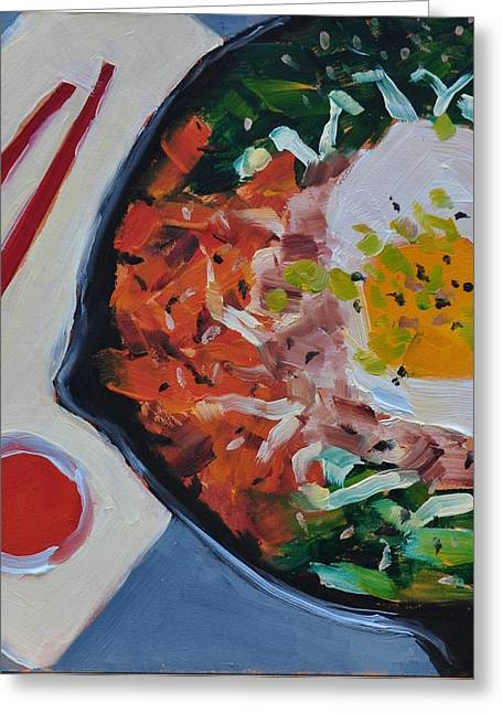 Mary Byrom Greeting Cards - Bibimbap Greeting Card by Mary Byrom