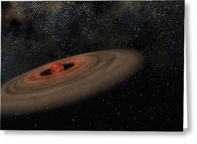 Binary Stars Greeting Cards - Binary system 2M J044144, artwork Greeting Card by Science Photo Library