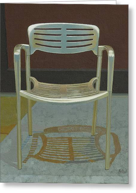 Photorealism Greeting Cards - Bing Chair Greeting Card by Michael Ward