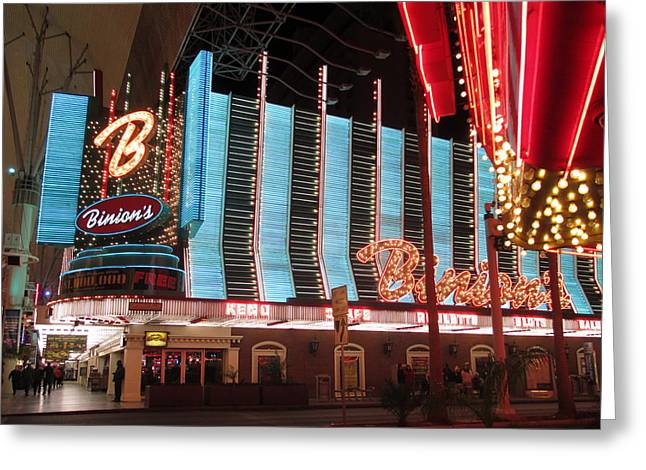 Binions Greeting Card by Kay Novy
