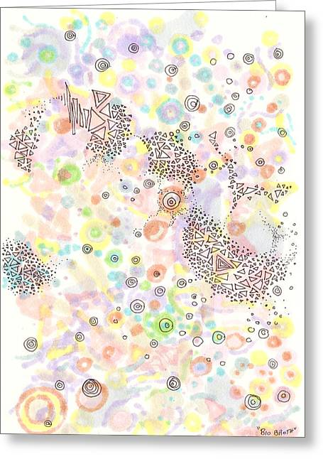 Disk Drawings Greeting Cards - Bio broth Greeting Card by Regina Valluzzi