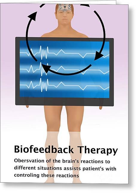 Information Age Photographs Greeting Cards - Biofeedback Therapy Greeting Card by Gwen Shockey