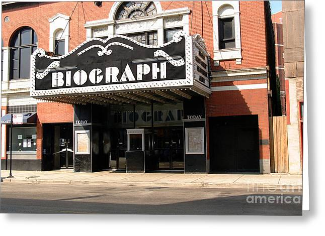 Linda Matlow Greeting Cards - Biograph Theatre John Dillingers last night out Greeting Card by Linda Matlow