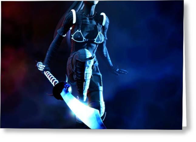 Biological Digital Art Greeting Cards - BiorobH Greeting Card by Gabriel Forgottenangel