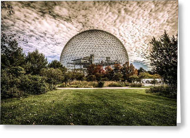Montreal Icon Greeting Cards - Biosphere Greeting Card by Martin New
