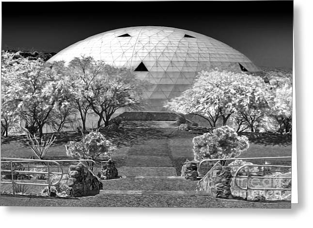 Gregory Dyer Greeting Cards - Biosphere2 - Dome Panorama Greeting Card by Gregory Dyer