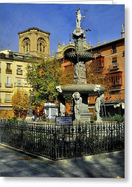 Granada Greeting Cards - Bip Rambla square Greeting Card by Guido Montanes Castillo