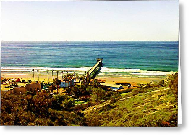 California Beach Art Digital Art Greeting Cards - Birch Aquarium At La Jolla Greeting Card by Glenn McCarthy Art and Photography