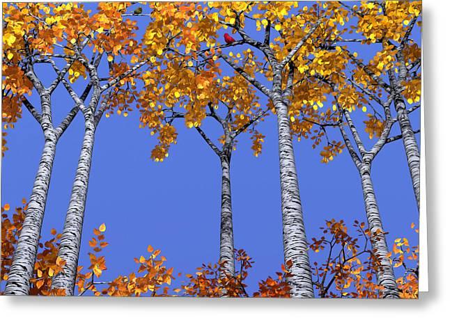 Birch Grove Greeting Card by Cynthia Decker