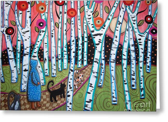 Birch Tree Greeting Cards - Birch Grove Greeting Card by Karla Gerard