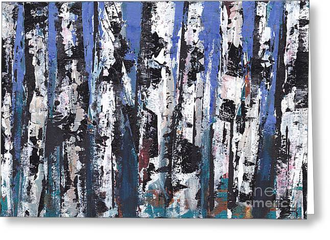 Boundary Waters Mixed Media Greeting Cards - Birch Series #12 Greeting Card by A K Dayton