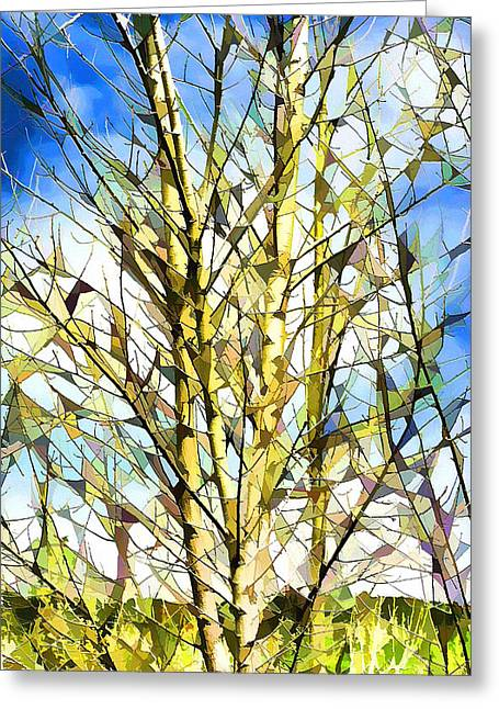 Birch Tree Digital Greeting Cards - Birch Tree Greeting Card by Ely Arsha