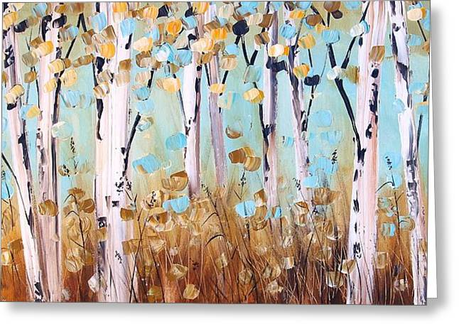 Jolina Anthony Greeting Cards - Birch Trees Greeting Card by Jolina Anthony