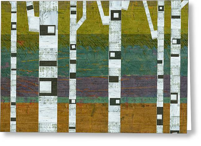 Abedules Greeting Cards - Birches 2.0 Greeting Card by Michelle Calkins