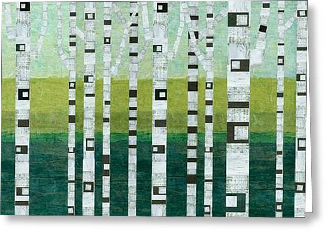 Abedules Greeting Cards - Birches at the Beach Greeting Card by Michelle Calkins