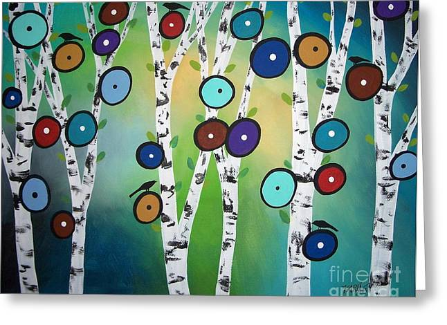 Birch Tree Greeting Cards - Birches Greeting Card by Karla Gerard