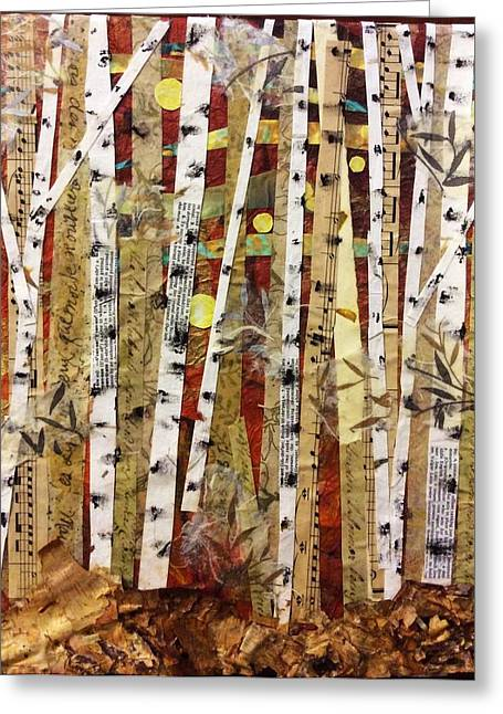 Birch Tree Mixed Media Greeting Cards - Birches VI Greeting Card by Barbara Kinnick